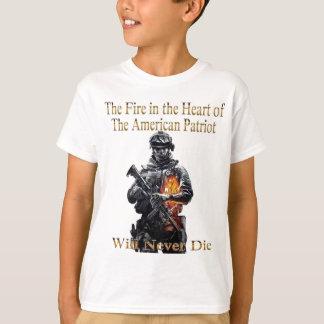 Die amerikanische Patriotkleidungslinie T-Shirt