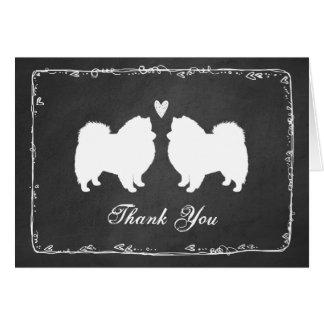 Die amerikanischen Wedding Eskimohunde danken Mitteilungskarte