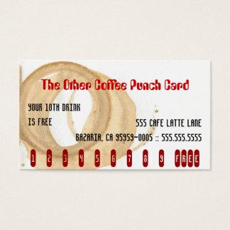 Die andere Kaffee-Lochkarte Visitenkarten
