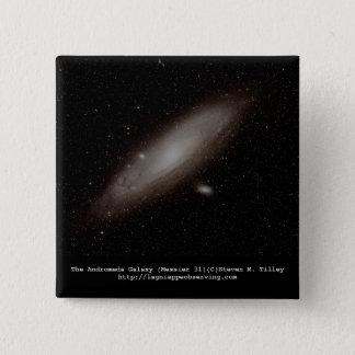 Die andromeda-Galaxie (M31) Quadratischer Button 5,1 Cm