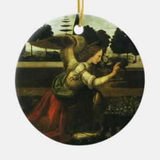 Die Ankündigung durch Leonardo da Vinci Rundes Keramik Ornament