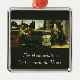 Die Ankündigung durch Leonardo da Vinci Silbernes Ornament