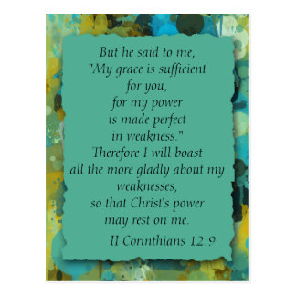 Die Anmut-Postkarte des Inspirational christliche Postkarte