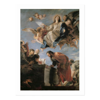 Die Annahme der Jungfrau, 1673 (Öl auf Leinwand) Postkarte