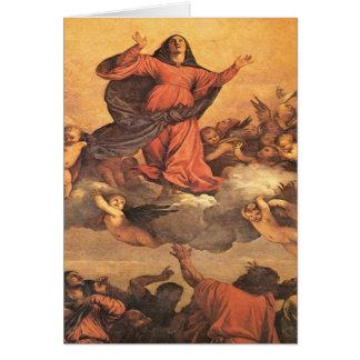 Die Annahme von Mary in Himmel Karte