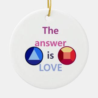 Die Antwort ist Liebe (v1) Keramik Ornament