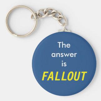 Die Antwort ist radioaktiver Niederschlag Schlüsselanhänger