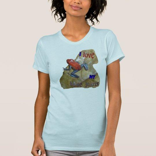 Die APP der Blue Jeans-Frosch-Frauen. T - Shirt