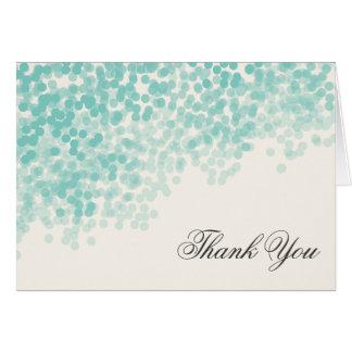 Die aquamarine helle elegante Dusche danken Ihnen Karte