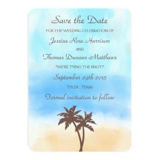 Die Aquarell-Strand-Hochzeits-Sammlung 11,4 X 15,9 Cm Einladungskarte