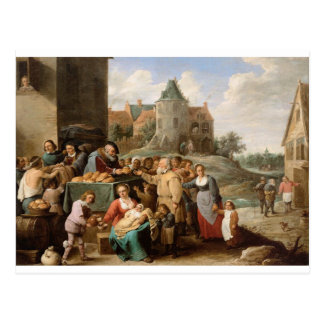 Die Arbeiten der Gnade durch David Teniers das Postkarte