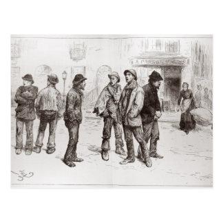 Die Arbeitslosen von London 2 Postkarten