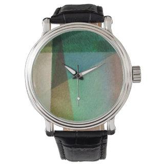Die Armbanduhr der Frauen mit abstrakter Malerei