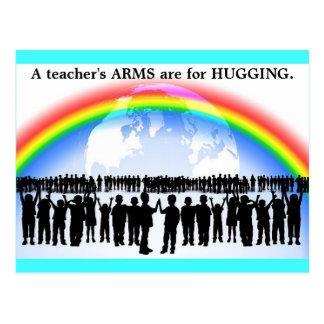 Die ARME des Antigewehr-Postkartenlehrers sind für Postkarte
