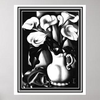 """Die arums-"" Kunst-Deko-Druck Tamara de Lampicka Poster"