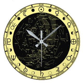 Die Astronomie-Symbol-Konstellations-Uhr des Große Wanduhr