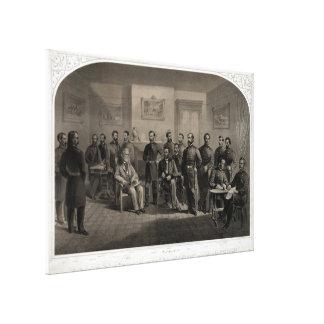 Die Auslieferung der allgemeinen Lee-Lithographie Leinwanddruck