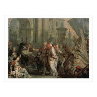 Die Ausschiffung von Kleopatra am Tarsus (Öl an Postkarten