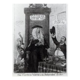 Die ausschlaggebende Stimme oder der unabhängige Postkarte