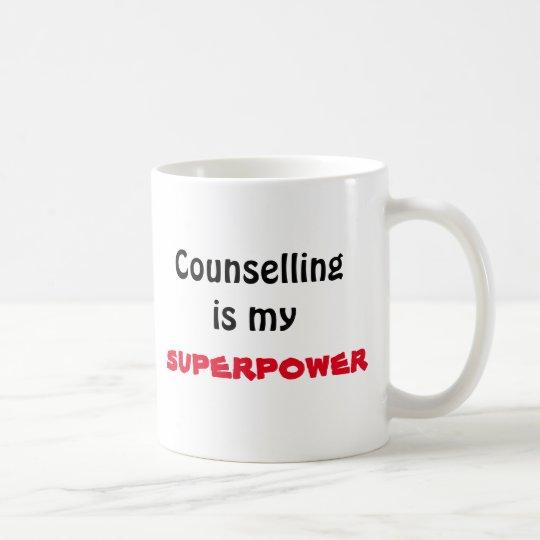 Die Beratung ist meine Supermacht-Tasse Kaffeetasse