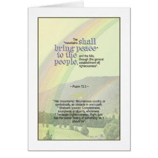 Die Berge des Gottes holen Gesamtheit - Psalm-72:3 Karte