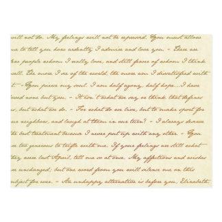 Die Best-Zitate von Jane Austen Postkarte