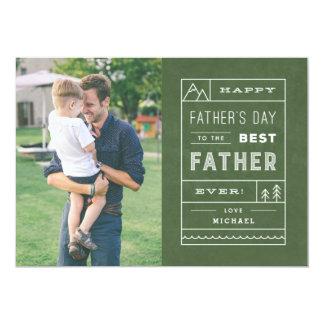 Die beste der Vatertags-Karte Vater-- Armee 12,7 X 17,8 Cm Einladungskarte