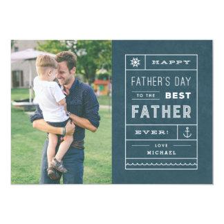 Die beste der Vatertags-Karte Vater-- Marine 12,7 X 17,8 Cm Einladungskarte