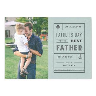 Die beste der Vatertags-Karte Vater-- staubiges 12,7 X 17,8 Cm Einladungskarte
