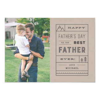 Die beste der Vatertags-Karte Vater-- TAN 12,7 X 17,8 Cm Einladungskarte