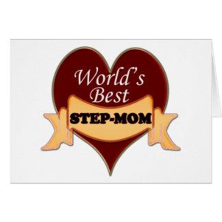 Die beste Stiefmutter der Welt Grußkarte