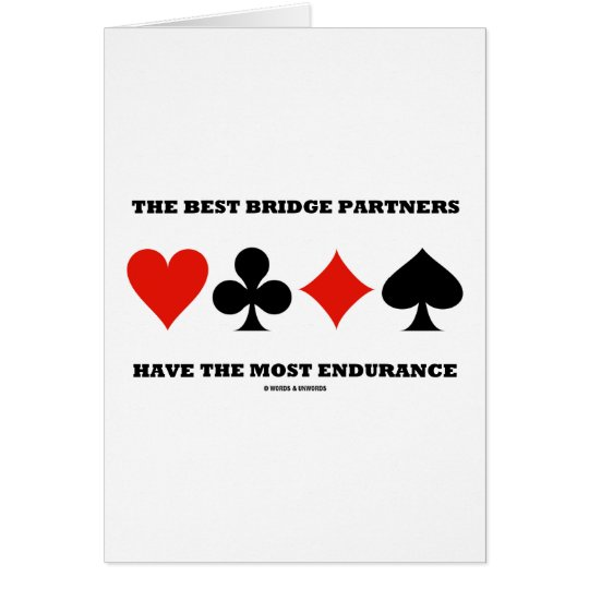 Die besten Brücken-Partner haben die meiste Grußkarte