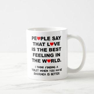 Die bestes Gefühls-lustige Tasse