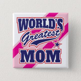 Die bestste Mamma der Welt Quadratischer Button 5,1 Cm