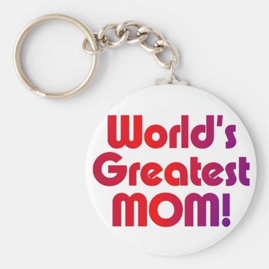 Die bestste Mamma der Welt Standard Runder Schlüsselanhänger