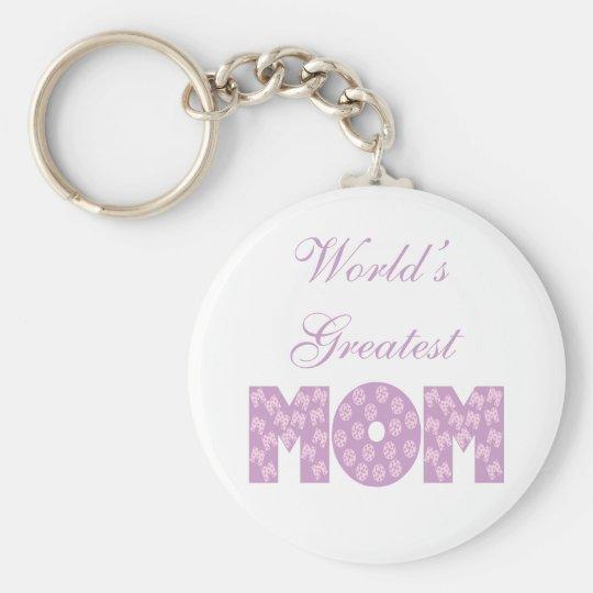 Die bestste Mamma der Welt - weißer Hintergrund Standard Runder Schlüsselanhänger