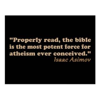 Die Bibel ist eine starke Kraft für Atheismus Postkarte