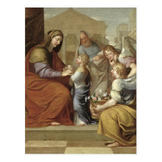 Die Bildung der Jungfrau, 1658 Postkarte