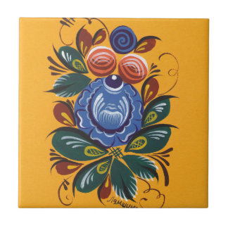 Die blaue Blume Kleine Quadratische Fliese