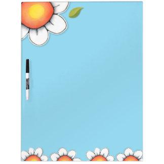 Die blaue Gänseblümchen-Freude trocknen Memo Boards