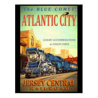 Die blaue Kometen-Zug-Postkarte Postkarten