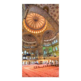 Die blaue Moschee Istanbul die Türkei Karte