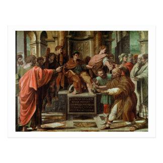 Die Blendung von Elymas (Cartoon für das Sistine Postkarte