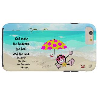 Die Blick-Strand-Mädchen des Pops Tough iPhone 6 Plus Hülle