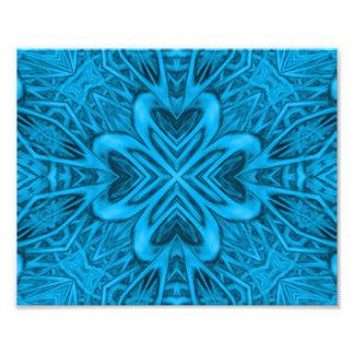 Die Blues-Kaleidoskop-bunten Foto-Drucke Kunst Foto