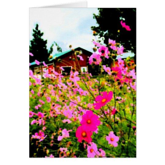 Die Blumen-Bauernhofmalerei Mitteilungskarte