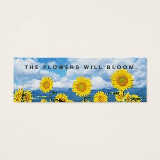 Die Blumen blühen gelegentliche Taten-Güte-Karte Mini Visitenkarte
