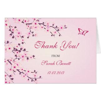 Die Blumen Kirschblüten danken Ihnen Babyparty Grußkarte
