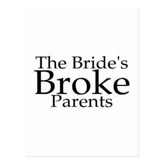 Die Bräute brachen Eltern Postkarten