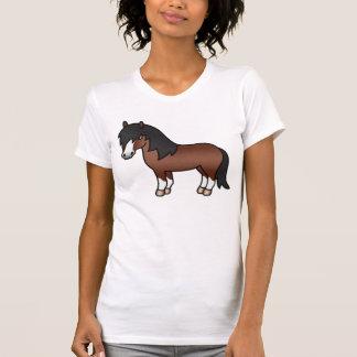 Die Brown-Cartoon-Shetlandinseln-Pony T-Shirt